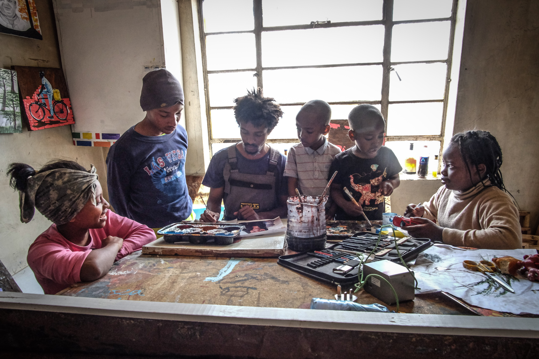 Kinder im Atelier